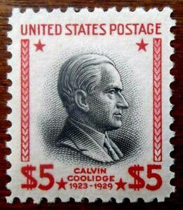 Buffalo Stamps:  Scott #834, $5 Prexie, Mint NH/OG & VF/XF-J, CV = $95.