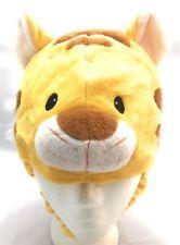 Toddlers Children Winter Soft Plush Animal Face Custom Beanie Hat Yellow Tiger