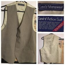 Levi's Menswear action Western vest STA-PREST no iron rockabilly men Small-Med
