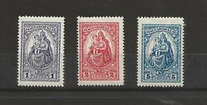 HUNGARY 1926 MADONNA AND CHILD HV SG 476 - 478 SET MM CAT £195