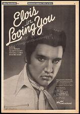 ELVIS PRESLEY__LOVING YOU__Original 1981 Trade print AD / poster__Lizabeth Scott