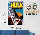 Incredible Hulk #340 Marvel Comic Cover Wall Poster Multiple Sizes 11x17-24x36