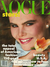 Vogue February 1982  NY Collections-Mariel Hemingway-Perry Ellis-Milan Kundera