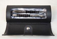 Vintage Collectible Luxury LIPITOR Metal Fountain & Ballpoint Pen Chrome Black