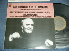 BRUNO WALTER MAHLER THE BIRTH OF A PERFORMANCE Japan NM LP COLUMBIA SYMPHONY ORC