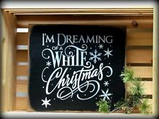 Wooden Winter Sign ~ Christmas Decor ~ White Christmas Sign ~ Holiday Decor ~ I'