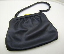 Damen Handtasche Damentasche, Kunstleder schwarz, mit Schnappverschl.1 Henkel