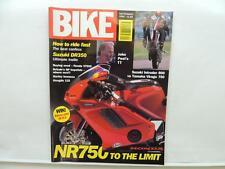 Sept 1992 Bike Magazine Suzuki DR350 Honda VT500 Harley Hongdu 125 Suzuki L10598