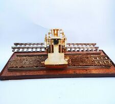 Vintage Tin Toy Train Railroad Track Fixing Miniature Solid Brass Model Old.
