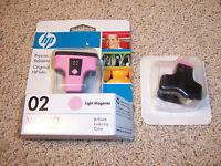 HP 02 Light Magenta Ink Cartridges Qty. 2
