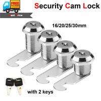 16/20/25/30mm Drawer Cam Lock Pinball Arcade Machine Door Cabinet Toolbox + 2Key