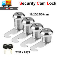 16/20/25/30mm Drawer Cam Lock Pinball Arcade Machine Door Cabinet Toolbox + 2Key