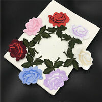 New Embroidered Flower Applique Iron On Sew On Patch Clothing Peony FT