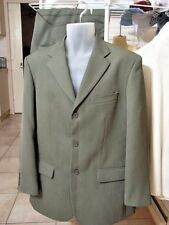 SUIT Men's bespoke TRENCH tailored Size 100 Reg NEW Khaki pin