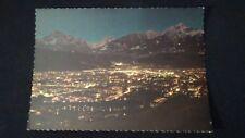 Schöne ältere AK Innsbruck bei Nacht Serles Habicht Nockspitze  ungelaufen ö1