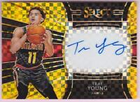 TRAE YOUNG RC 2018-19 SELECT GOLD PRIZM AUTO #10/10 AUTOGRAPH ROOKIE