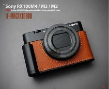 LIM'S Metal Grip Genuine Leather Camera Half Case For Sony RX100 II III IV V