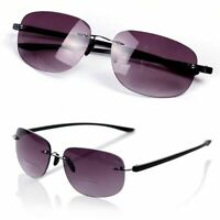 Rimless Bifocal Sunglasses Reading Glasses +1.0/+1.5/+2.0/+2.5/+3.0/+3.5 Un C1Q2