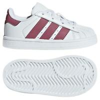 adidas ORIGINALS INFANTS LACED SUPERSTAR TRAINERS WHITE BOY'S GIRL'S KID'S SHOES