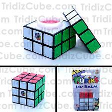 3x3x3 Rubik's Cube Look Alike Lip Balm Fruit Flavored Novelty Gift - US Seller