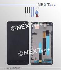 Schermo Display Touch screen Vetro Nokia Lumia 1320 + cornice kit riparazione