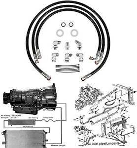 For 06-10 Duramax Transmission Cooler Lines/Hoses Chevy/GMC 6.6L w/Allison