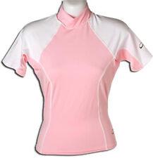 Women's Pink Rash Guard UV protection shirt Med Medium Girl Swim Shirt
