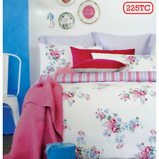 225TC Rose Pink Shabby Chic Quilt Cover Set or European Pillowcases - ALL SIZES