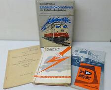 4 x Deutsche Bundesbahn Reichsbahn @ die elektrischen Einheitslokomotive
