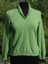 Jones NY Cashmere V-neck Sweater Sz S Double Layer Collar Womens Light Green