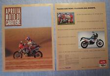 MOTOSPRINT989-PUBBLICITA'/ADVERTISING-1989- APRILIA TUAREG 600 WIND