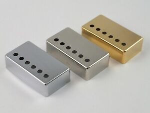 HUMBUCKER PICKUP COVERS in 3 sizes & 3 colours Chrome, Nickel or Gold