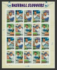 Baseball Sluggers Complete Sheet of Twenty 39 Cent Stamps Scott 4083
