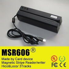 Usb MSR606 bande magnétique pvc credit card reader writer encoder swipe 3 pistes