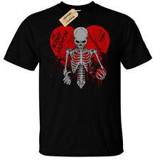 Bloody Valentine Camiseta para hombre Rock Punk Gótico Emo cráneo Goth mi