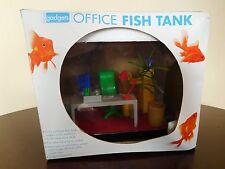 NEW Home Gadgets Office Fish Tank / Desktop Fish Bowl w/ Office Furniture Theme