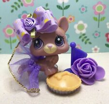 Authentic Littlest Pet Shop # 1533 Mauve Tan Blind Bag Corgi Purple Eyes Outfit