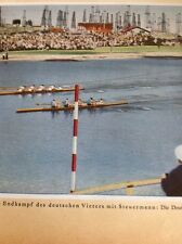 Ephemera Picture 1932 Olympics Rowing Italy Germany A3b