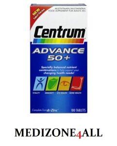 100 Centrum Advance 50 Plus Complete A-Z Multivitamins Plus Minerals Tablets