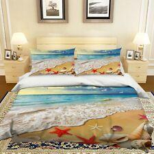 3D Beach Starfish Seagull Shell Kep9312 Bed Pillowcases Quilt Duvet Cover Kay