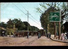 BOIS DE VINCENNES (94) MILITAIRES & TRAMWAY à la PORTE DOREE , début 1900