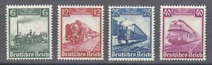Germany 1935 MNH Mi 580-583 459-462 Centenary of railroad in Germany **