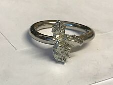 Holly Leaves TG197  Fine English Pewter on a Scarf Ring