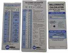 Miller Electric Millermatic Calculator Gas Metal Arc TIG MIG Welding Wire Feed