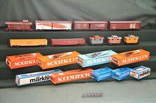 Märklin H0 4570....4578, Train de marchandises Américain / Am. Güterzug, 1961 ++