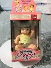 Love-A-Bye Baby doll VTG 1987 NIB straight brown hair, blue eyes #4519-5120
