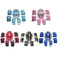 Hot Boys & Girls Skate Cycling Bike Safety Helmet Knee Elbow Pad Set