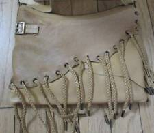 BRAND NEW GIANNI VERSACE COUTURE LEATHER & PONY HAIR FRINGED HANDBAG PURSE