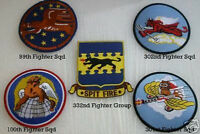 LARGE 99 100 301 302ND SQUADRON TUSKEGEE AIRMEN PATCH US AIR FORCE RED TAIL GIFT