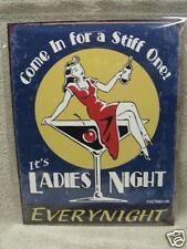 Ladies Night Funny Sexy Girl Tin Metal Sign Bar Decor NEW Martini
